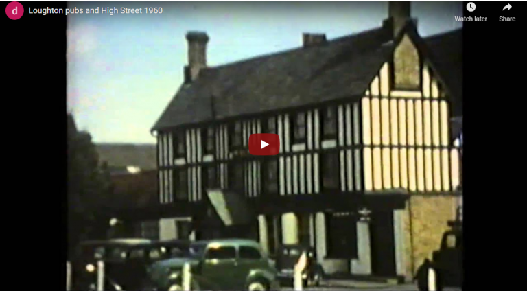 Loughton pubs and High Street 1960 Video